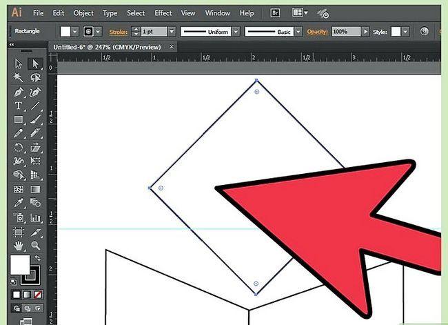 Prent getiteld Maak `n kubus in Adobe Illustrator Stap 5