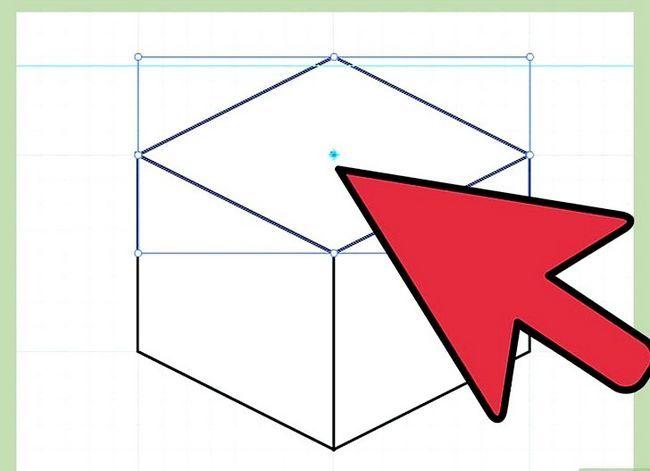 Prent getiteld Maak `n kubus in Adobe Illustrator Stap 6