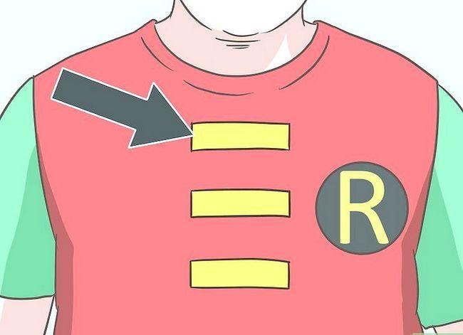 Prent getiteld Maak `n Robin Kostuum Stap 4