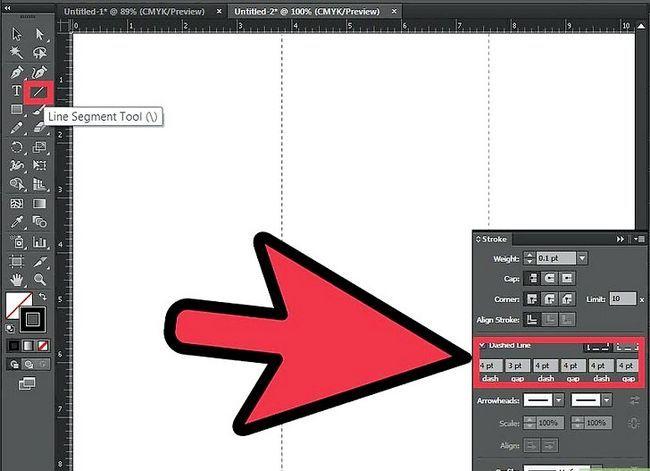 Prent getiteld Maak `n brosjure in Adobe Illustrator Stap 3