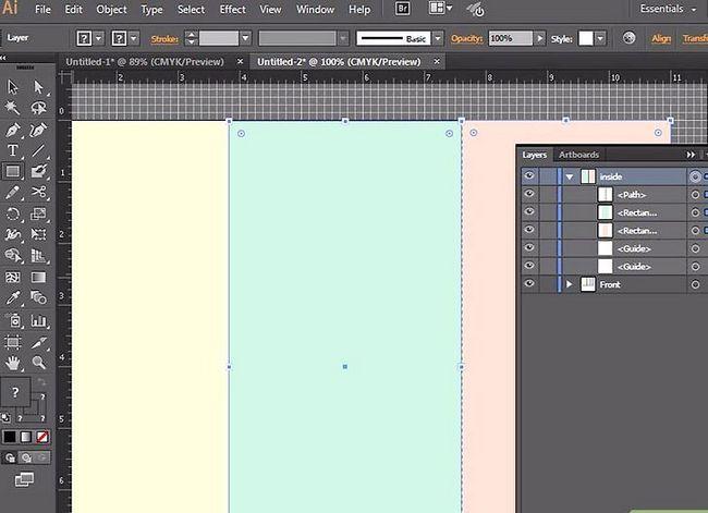 Prent getiteld Maak `n brosjure in Adobe Illustrator Stap 7