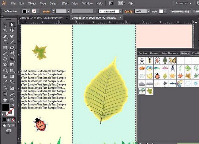 Prent getiteld Maak `n brosjure in Adobe Illustrator Stap 8