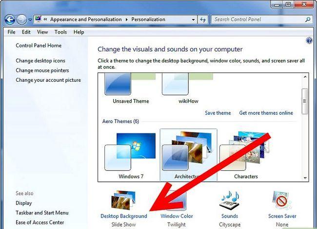Prent getiteld Maak `n veranderende agtergrond op u rekenaar (Windows 7) Stap 5