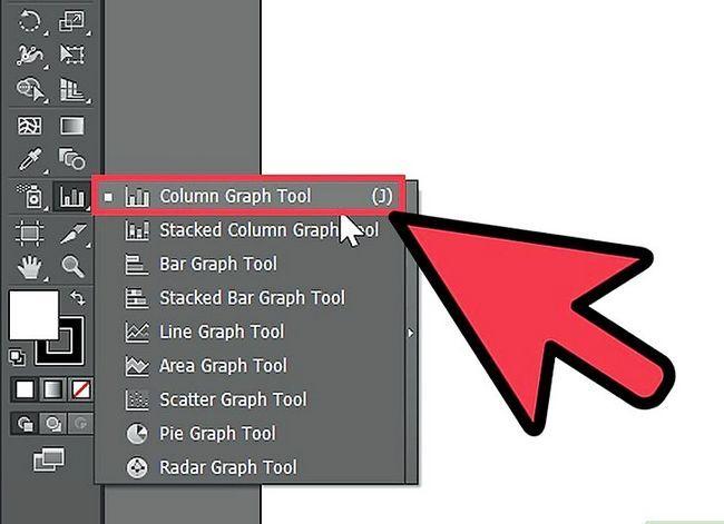 Prent getiteld Maak `n grafiek in Adobe Illustrator Stap 1