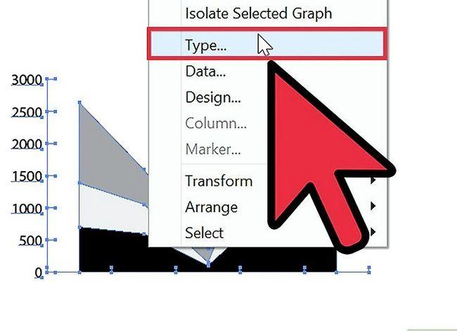 Prent getiteld Maak `n grafiek in Adobe Illustrator Stap 4