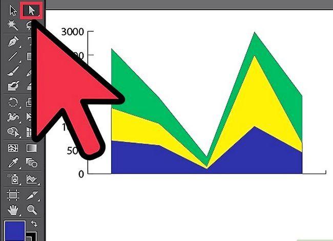 Prent getiteld Maak `n grafiek in Adobe Illustrator Stap 5