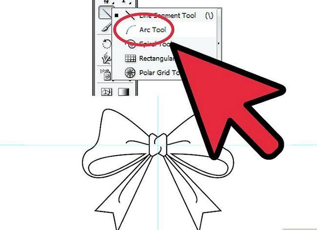 Prent getiteld Maak `n lint in Adobe Illustrator Stap 11