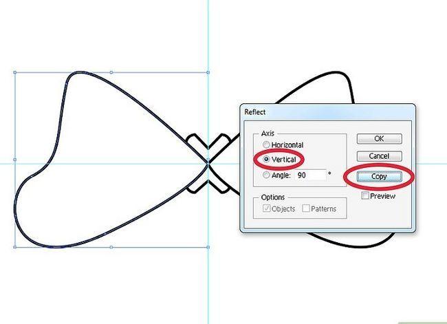 Prent getiteld Maak `n lint in Adobe Illustrator Stap 5