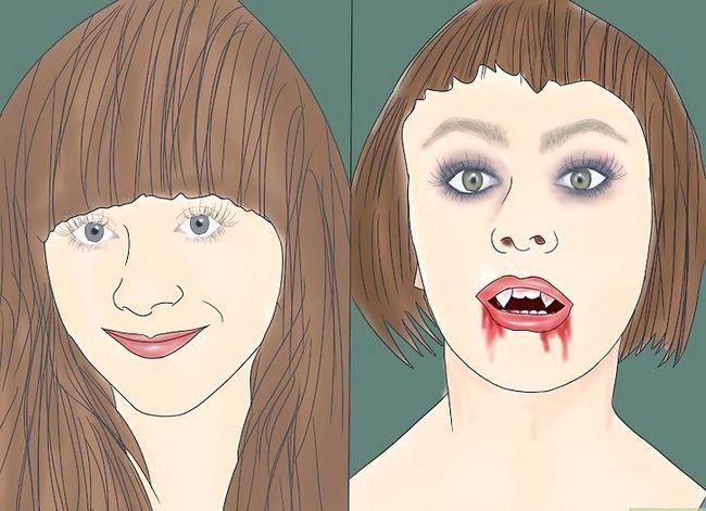 Prent getiteld Doen Vampier Make-up Stap 1
