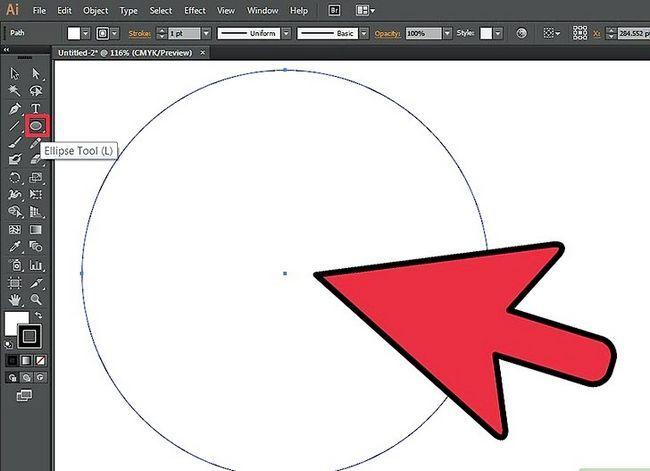 Prent getiteld Maak `n klok in Adobe Illustrator Stap 1
