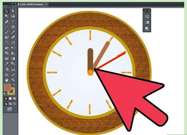 Prent getiteld Maak `n klok in Adobe Illustrator Stap 11