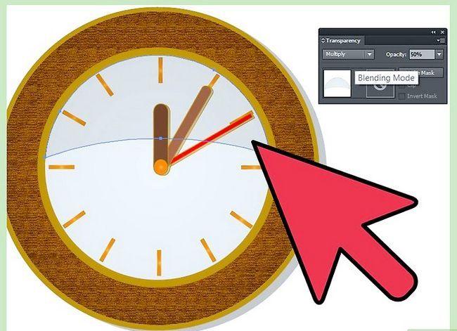 Prent getiteld Maak `n klok in Adobe Illustrator Stap 15