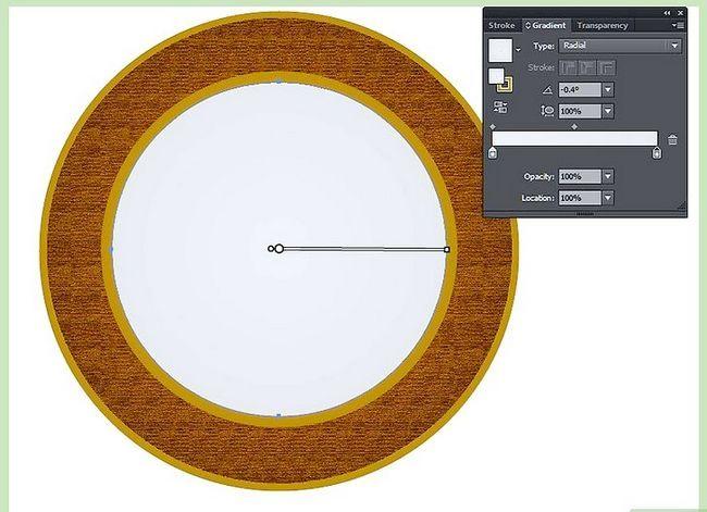 Prent getiteld Maak `n klok in Adobe Illustrator Stap 6