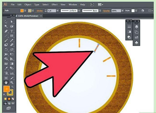 Prent getiteld Maak `n klok in Adobe Illustrator Stap 8