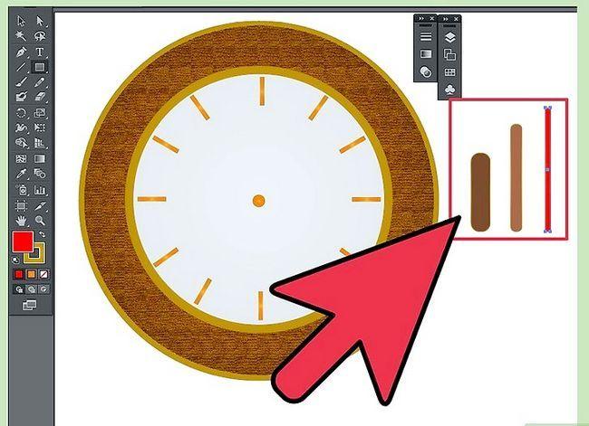 Prent getiteld Maak `n klok in Adobe Illustrator Stap 10