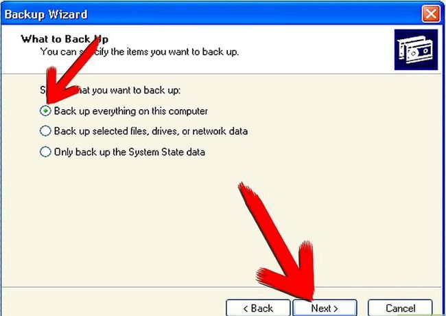 Beeld getiteld Backup Windows XP Stap 3