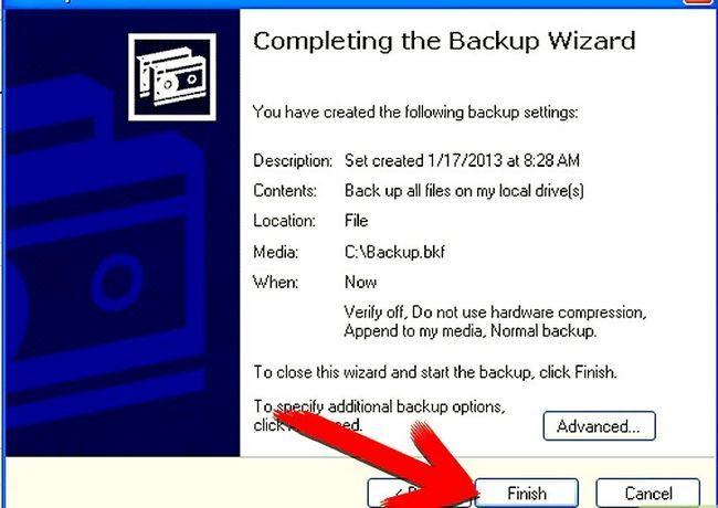Beeld getiteld Backup Windows XP Stap 6