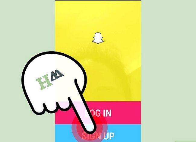 Prent getiteld Maak `n video in Snapchat Stap 2