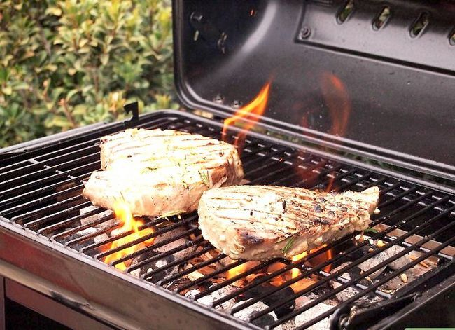 Prent getiteld Barbecue Stap 3