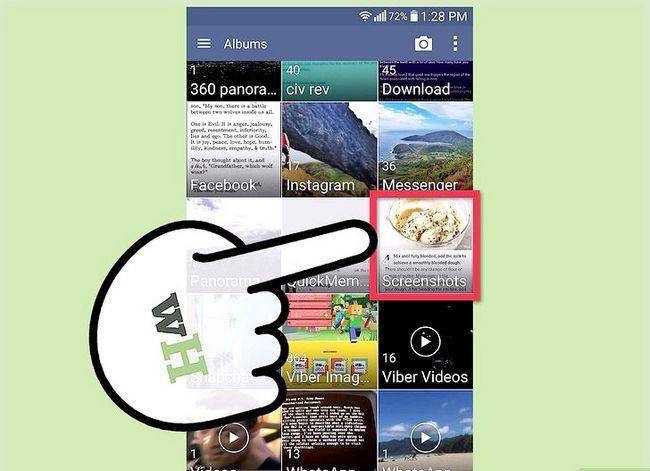 Prent getiteld Neem `n skerm prent op `n 4G LG Android Phone Stap 4