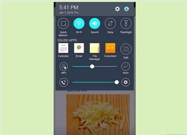 Prent getiteld Neem `n skerm prent op `n 4G LG Android Phone Stap 7