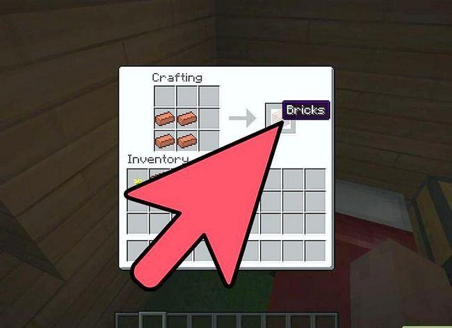 Beeld getiteld Bou `n baksteen kaggel met `n skoorsteen in Minecraft Stap 3