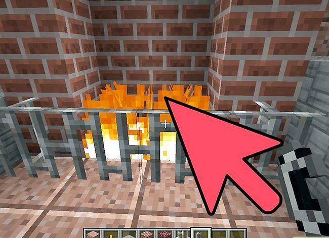 Beeld getiteld Bou `n baksteen kaggel met `n skoorsteen in Minecraft Stap 8