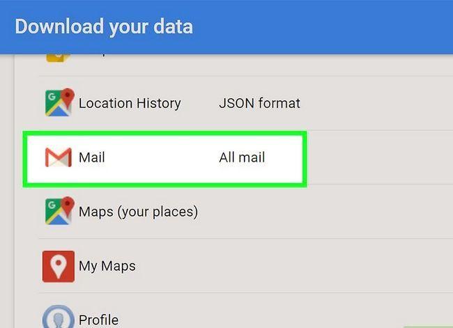Prentjie getiteld Rugsteun jou Gmail-rekening Stap 5