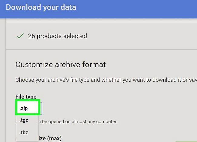 Beeld getiteld Rugsteun jou Gmail-rekening Stap 7