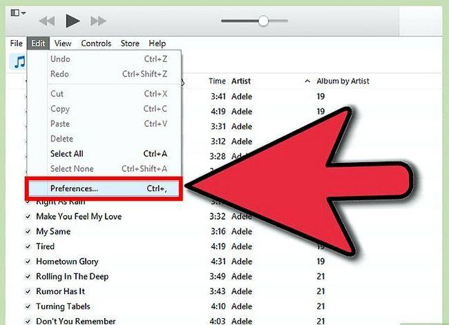 Beeld getiteld Rugsteun jou iTunes Media Stap 1