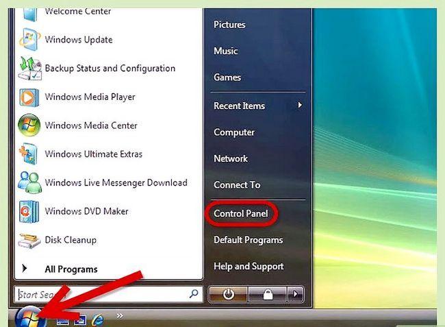 Beeld getiteld Rugsteun u rekenaar in Windows Vista Stap 1
