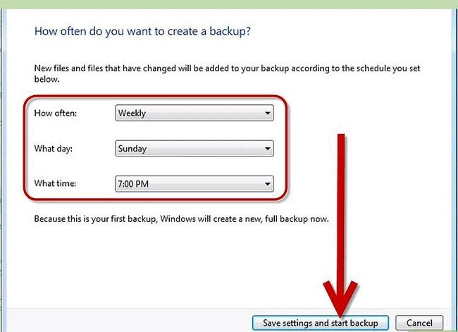 Beeld getiteld Rugsteun u rekenaar in Windows Vista Stap 13
