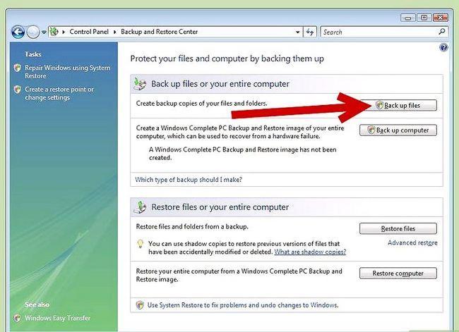 Beeld getiteld Rugsteun u rekenaar in Windows Vista Stap 9