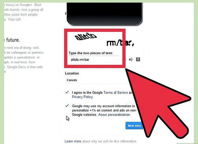 Prent getiteld Maak `n Google-rekening Stap 4