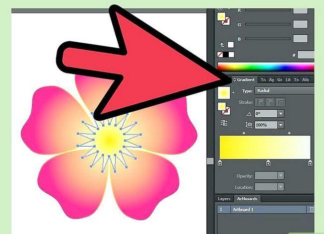Prent getiteld Maak `n blom in Adobe Illustrator Stap 9