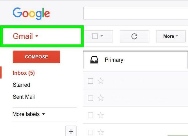 Prent getiteld Maak `n poslys in Gmail Stap 2
