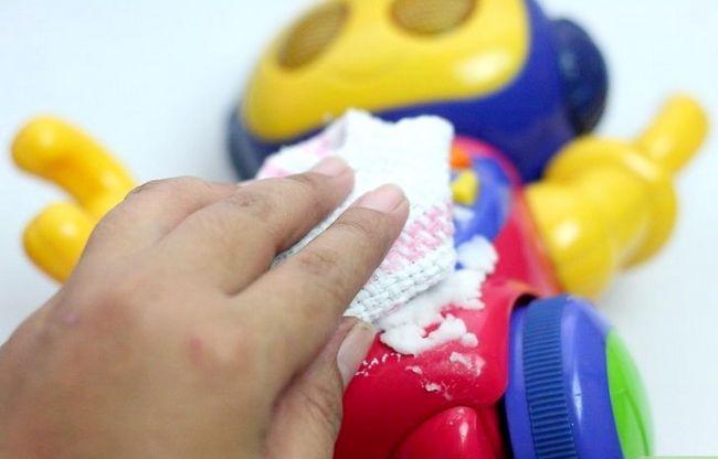 Prent getiteld Maak `n mengsel om Plastic Stap 8 skoon te maak