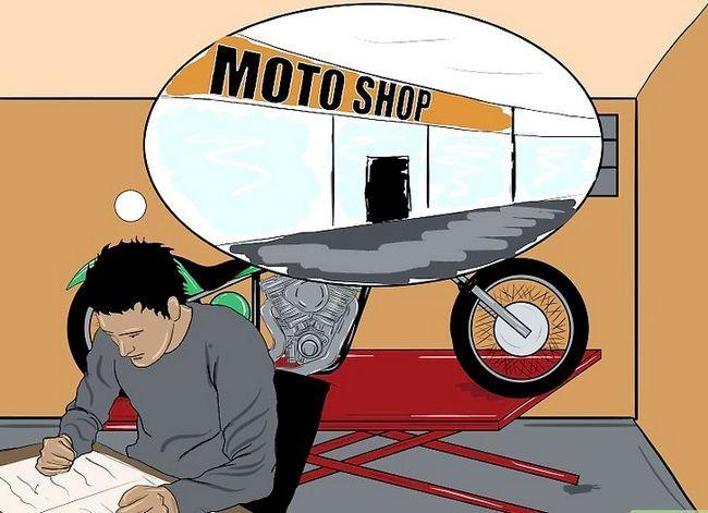 Prent getiteld Bou `n Chopper Motorcycle Stap 7