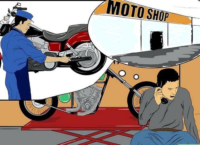 Prent getiteld Bou `n Chopper Motorcycle Stap 8