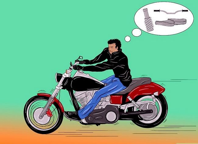 Prent getiteld Bou `n Chopper Motorfiets Stap 1Bullet2