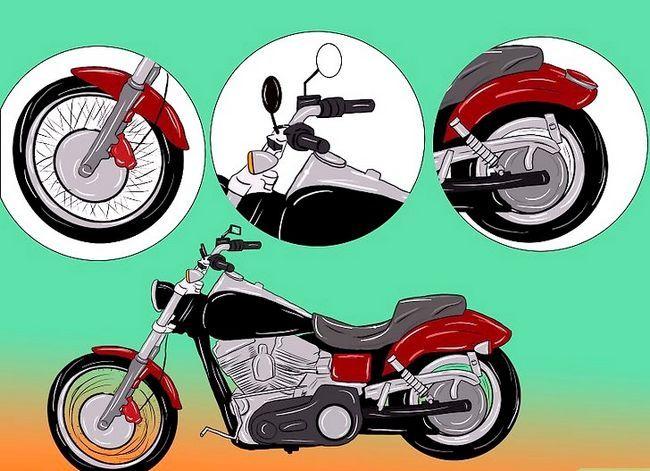 Prent getiteld Bou `n Chopper Motorfiets Stap 1Bullet3