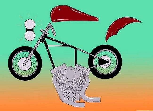 Prent getiteld Bou `n Chopper Motorfiets Stap 2