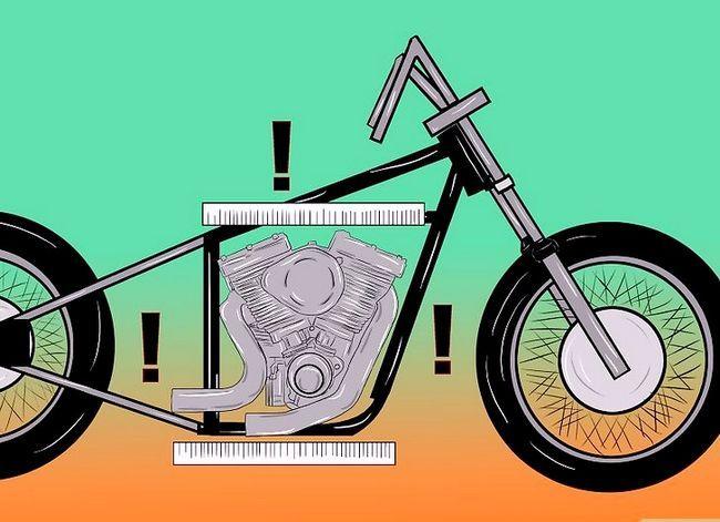 Prent getiteld Bou `n Chopper Motorcycle Stap 3