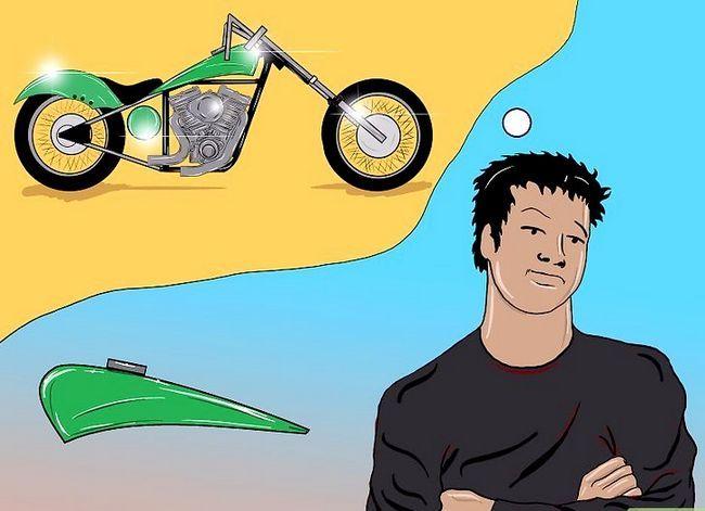 Prent getiteld Bou `n Chopper Motorcycle Stap 6