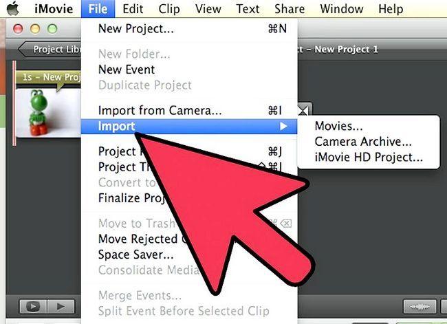 Prent getiteld Maak `n groen skerm op `n Mac deur iMovie Stap 11 te gebruik