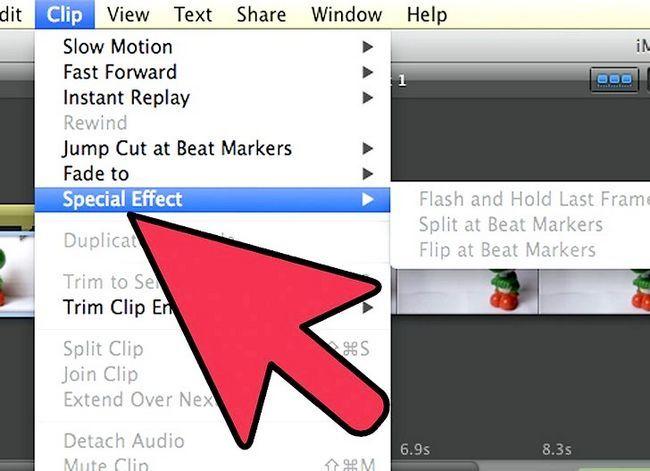 Prent getiteld Maak `n groen skerm op `n Mac deur iMovie Stap 18 te gebruik