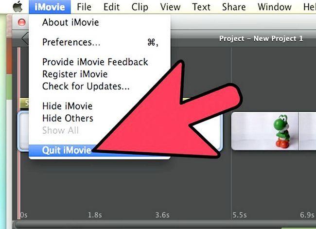 Prent getiteld Maak `n groen skerm op `n Mac deur iMovie Stap 20 te gebruik