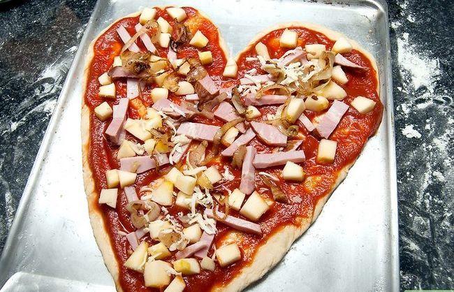 Prent getiteld Maak `n Hartvormige Pizza Stap 5