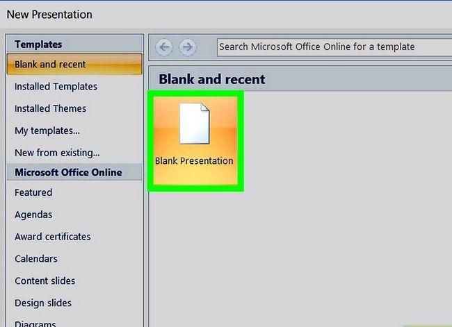 Prent getiteld Maak `n PowerPoint-sjabloon Stap 2