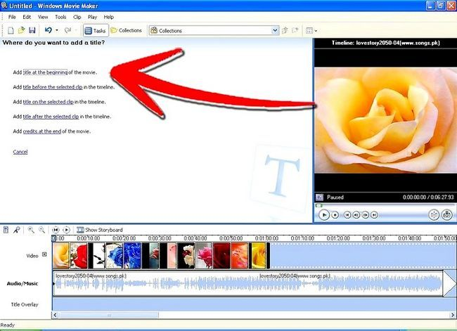 Prent getiteld Maak `n skyfievertoning met Windows Movie Maker Stap 6